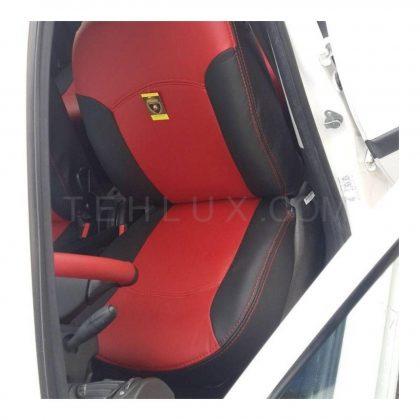 روکش صندلی 206 قرمز مشکی چرم اسپرت