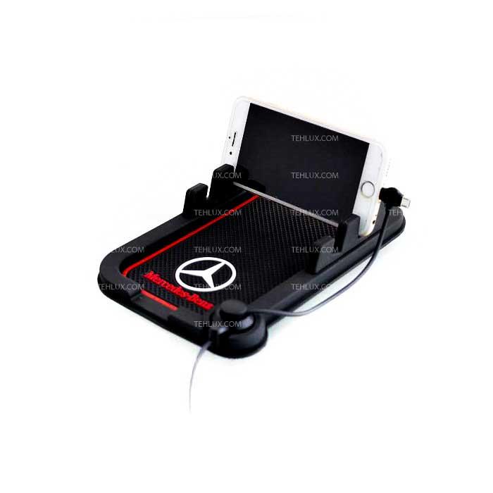 صفحه نگهدارنده چسبان موبایل با شارژر خودرو