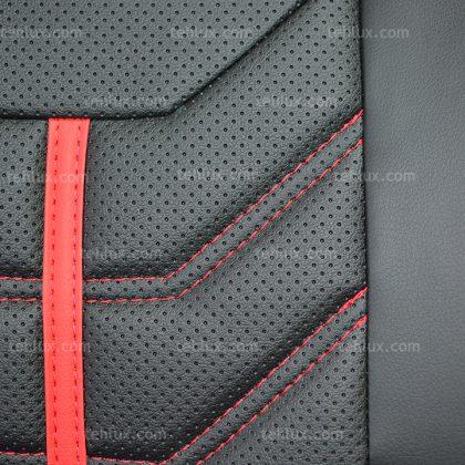 روکش صندلی چرمی مشکی قرمز پژو دنا پراید تیبا رانا 206 پارس 405