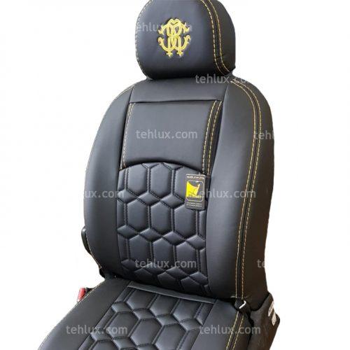 روکش صندلی چرمی 206 زرد