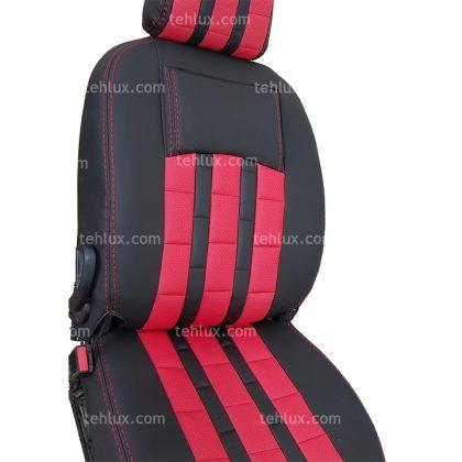 روکش صندلی چرم مشکی قرمز