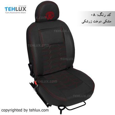 روکش صندلی چرم مشکی سمند پژو 206 پژو پارس و پژو 405