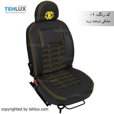 روکش صندلی پژو 206 مشکی نخ زرد