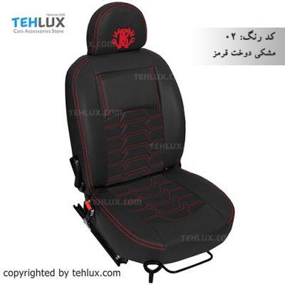 روکش صندلی پژو 206 مشکی نخ قرمز