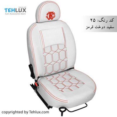 روکش صندلی سفید پژو پارس و پژو 206 و تیبا و پراید