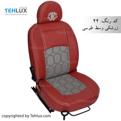 روکش صندلی چرم زرشکی 206 تهلوکس