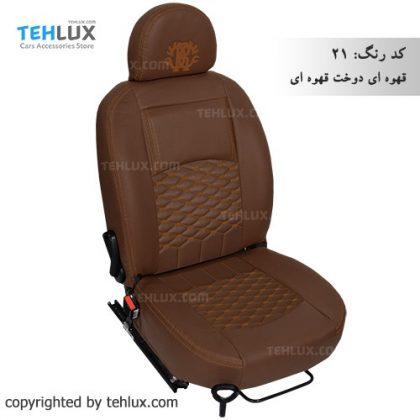 روکش صندلی قهوه-ای-دوخت-قهوه-ای دنا و دنا پلاس