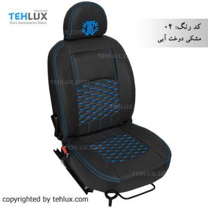 روکش صندلی مشکی-دوخت-آبی پژو پارس پژو 405 206 تیبا پراید