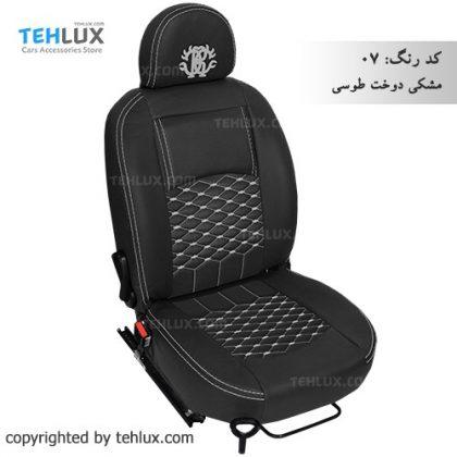 روکش صندلی مشکی-دوخت-طوسی پژو پارس پژو 405 206 تیبا پراید