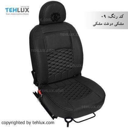 روکش صندلی مشکی-دوخت-مشکی پژو پارس پژو 405 206 تیبا پراید
