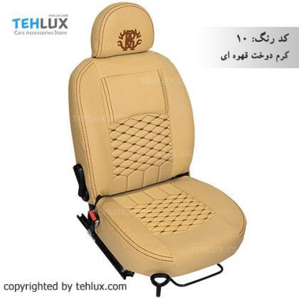 روکش صندلی کرم-دوخت-قهوه-ای دنا و دنا پلاس