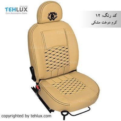 روکش صندلی کرم-دوخت-مشکی دنا و دنا پلاس