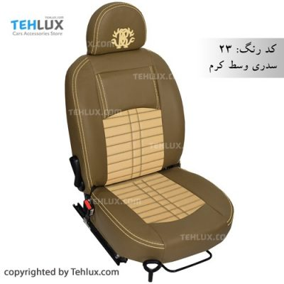 روکش صندلی چرم پژو پارس و پژو 405 سدری کرم