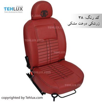 روکش صندلی زرشکی پژو 206 پراید تیبا