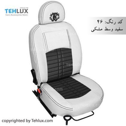 روکش صندلی سفید مشکی پژو پارس و پژو 206 و تیبا و پراید